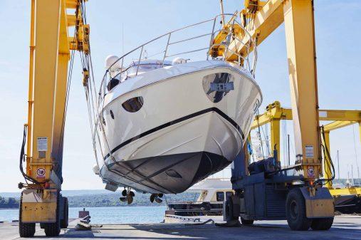 modern motor yacht launch in progressCHECK OTHER SIMILAR IMAGES IN MY PORTFOLIO....