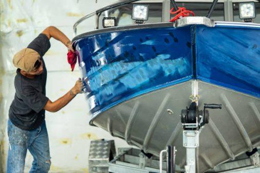 Repairing boat bod